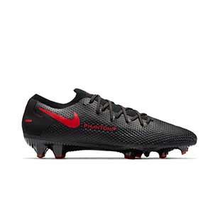 Nike Phantom GT Pro FG - Botas de fútbol Nike FG para césped natural o artificial de última generación - negras - pie derecho