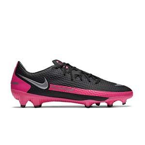 Nike Phantom GT Academy FG/MG - Botas de fútbol Nike FG/MG para césped artificial - negras y rosas - pìe derecho