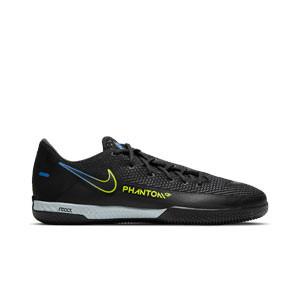 Nike React Phantom GT Pro IC - Zapatillas de fútbol sala Nike con suela lisa IC - negras - pie derecho