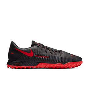 Nike React Phantom GT Pro TF - Zapatillas multitaco Nike Football suela turf - negras - pie derecho