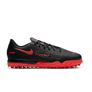 Nike Phantom GT Academy TF Jr - Zapatillas de fútbol multitaco infantiles Nike suela turf - negras - pie derecho