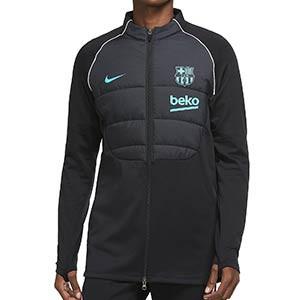 Chaqueta Nike Barcelona entreno UCL 2020 2021 Therma Padded - Chaqueta de entrenamiento Nike FC Barcelona Champions League 2020 2021 - negra - frontal
