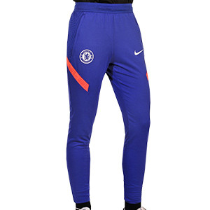 Pantalón Nike Chelsea entreno UCL 2020 2021 Strike - Pantalón largo de entrenamiento Nike Chelsea FC de la Champions League 2020 2021 - azul - frontal
