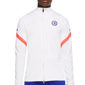 Chaqueta Nike Chelsea Dry Strike UCL 2020 2021 - Chaqueta chándal Nike del Chelsea 2020 2021 - blanca - frontal