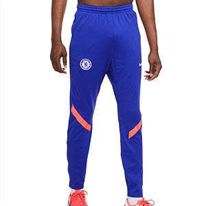 Pantalón chándal Nike Chelsea UCL 2020 2021 Strike - Pantalón largo de chándal Nike Chelsea FC de la Champions League 2020 2021 - azul - frontal