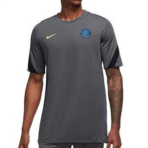 Camiseta Nike Inter entreno UCL 2020 2021 Strike - Camiseta de entrenamiento Nike del Inter de Milán de Champions League 2020 2021 - gris - frontal