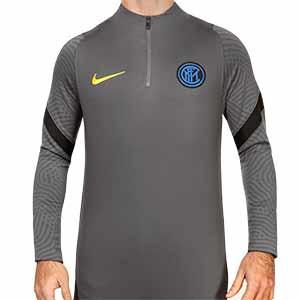 Sudadera Nike Inter entreno UCL 2020 2021 Strike - Sudadera de entrenamiento del Inter de Milán de la Champions League 2020 2021 - gris - frontal