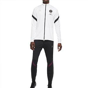 Chándal Nike PSG Dri-Fit Strike UCL 2020 2021 - Chándal Nike del París Saint-Germain de la Champions League 2020 2021 - blanco y negro - frontal