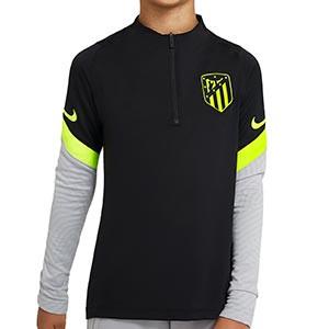 Sudadera Nike Atlético niño entreno UCL 2020 2021 Strike - Sudadera infantil de entrenamiento Nike Atlético Madrid de la Champions League 2020 2021 - negra - frontal
