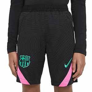 Short Nike Barcelona niño entreno UCL 2020 2021 Strike - Pantalón corto infantil Nike FC Barcelona de Champions League 2020 2021 - negro - frontal