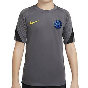 Camiseta Nike Inter niño entreno UCL 2020 2021 Strike - Camiseta de entrenamiento infantil Nike del Inter de Milán de Champions League 2020 2021 - gris - frontal