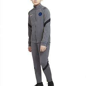 Chándal Nike Inter niño UCL 2020 2021 Strike - Chándal infantil Nike del Inter de Milán de la Champions League 2020 2021 - gris - frontal