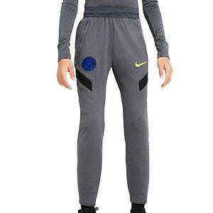 Pantalón Nike Inter niño entreno UCL 2020 2021 Strike - Pantalón largo infantil entrenamiento Champions League Nike Inter Milan 2020 2021 - gris - frontal