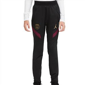 Pantalón Nike PSG niño entreno UCL 2020 2021 Strike - Pantalón largo de entrenamiento infantil Nike del Paris Saint-Germain de la Champions League 2020 2021 - negro - frontal