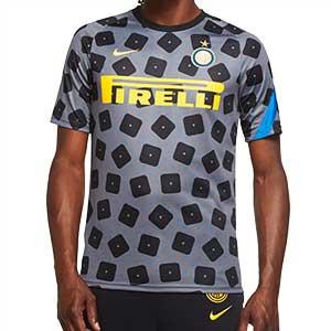 Camiseta Nike Inter pre-match UCL 2020 2021 - Camiseta calentamiento pre partido del Inter de Milán para la Champions League 2020 2021 - gris - frontal