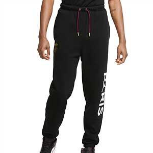 Pantalón Nike x Jordan PSG - Pantalón largo de paseo de algodón Nike del Paris Saint-Germain - negro - frontal