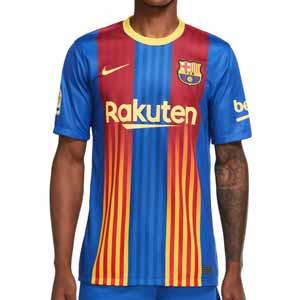 Camiseta Nike 4a Barcelona Senyera 2021 Stadium - Camiseta Nike cuarta equipación FC Barcelona 2021 - azulgrana - frontal