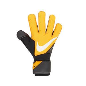 Nike GK Vapor Grip3 - Guantes de portero profesionales Nike corte Grip 3 - amarillos anaranjados y negros - frontal derecho