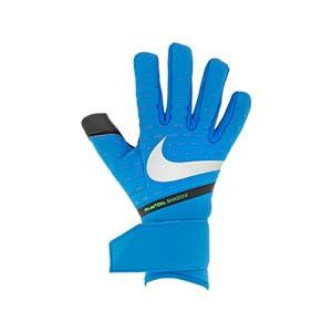 Nike GK Phantom Shadow - Guantes de portero Nike corte negativo - azules - frontal