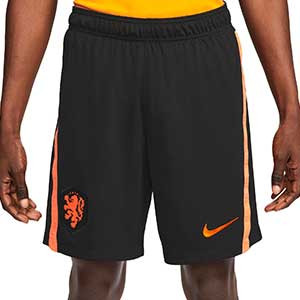 Short Nike Holanda 2a 2020 2021 Stadium - Pantalón corto segunda equipación Nike selección holandesa 2020 2021 - negro - frontal