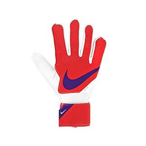 Nike GK Match Jr - Guantes de portero infantiles Nike corte flat - rosas rojizos - frontal