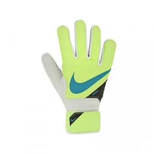 Nike GK Match Jr - Guantes de portero infantiles Nike corte flat - verdes - miniatura frontal derecho