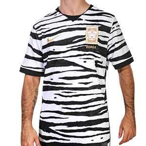 Camiseta Nike 2a Korea Stadium 2020 - Camiseta segunda equipación selección koreana Nike Stadium 2020 - blanca y negra - frontal