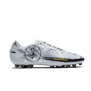 Nike Phantom GT Academy SE AG - Botas de fútbol Nike AG para césped artificial - plateadas - pie derecho