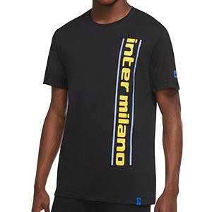 Camiseta Nike Inter Milán Ground - Camiseta de algodón Nike del Inter de Milán - negra - frontal