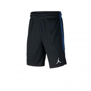 Short Nike 4a PSG x Jordan niño entreno 19 20 Strike - Pantalón corto infantil Nike x Jordan entrenamiento Paris Saint Germain 2019 2020 - negro y azul - frontal