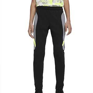 Pantalón Nike niño Dry Academy - Pantalón largo de entrenamiento infantil Nike - negro y gris - frontal