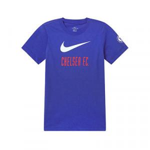 Camiseta algodón Nike Chelsea niño Ignite - Camiseta algodón infantil Nike del Chelsea FC - azul - frontal