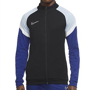 Chaqueta Nike Dry Academy - Chaqueta de chándal de fútbol Nike - negra y azul - frontal