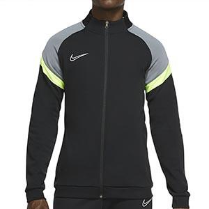 Chaqueta Nike Dry Academy - Chaqueta de chándal de fútbol Nike - negra y amarillo flúor - frontal