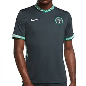 Camiseta Nike 2a Nigeria 2020 2021 Stadium - Camiseta segunda equipación Nike selección de Nigeria 2020 2021 - verde oscuro - frontal