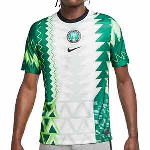 Camiseta Nike Nigeria 2020 2021 Stadium - Camiseta primera equipación Nike selección de Nigeria 2020 2021 - blanca y verde - frontal