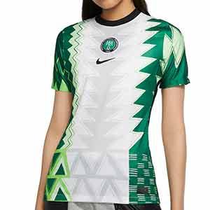 Camiseta Nike Nigeria mujer 2020 2021 Stadium - Camiseta mujer primera equipación selección Nigeria 2020 2021 - blanca y verde - frontal