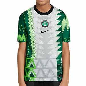 Camiseta Nike Nigeria niño 2020 2021 Stadium - Camiseta infantil primera equipación Nike selección de Nigeria 2020 2021 - blanca y verde - frontal