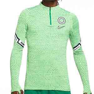 Sudadera Nike Nigeria entreno 2020 2021 Strike - Sudadera de entrenamiento Nike de la selección de Nigeria 2020 2021 - verde - frontal