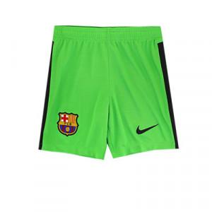 Short Nike Barcelona niño portero 2020 2021 - Pantalón corto infantil de portero Nike del FC Barcelona 2020 2021 - verde - frontal
