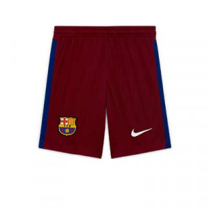 Short Nike portero niño Barcelona 2020 2021 - Pantalón corto infantil de portero Nike del FC Barcelona 2020 2021 - rojo - frontal
