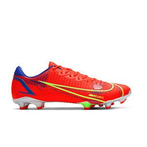 Nike Mercurial Vapor 14 Academy FG/MG - Botas de fútbol Nike FG/MG para césped artificial - rosa rojizas, plateadas, azul moradas - pie derecho