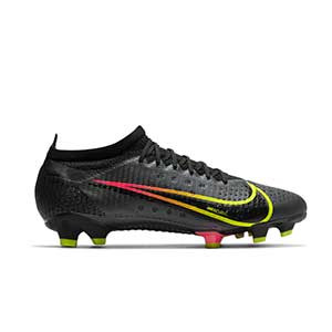 Nike Mercurial Vapor 14 Pro FG - Botas de fútbol Nike FG para césped natural o artificial de última generación - negras - pie derecho