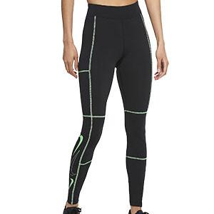 Mallas Nike mujer Sportswear Swoosh - Mallas largas de talle alto Nike para mujer Nike - negras - frontal