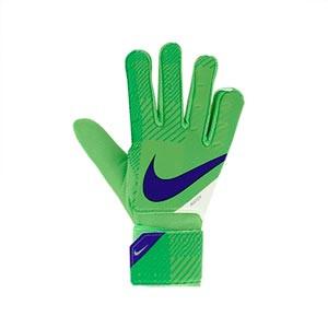 Nike GK Match Jr - Guantes de portero infantiles Nike corte flat - verdes - frontal derecho