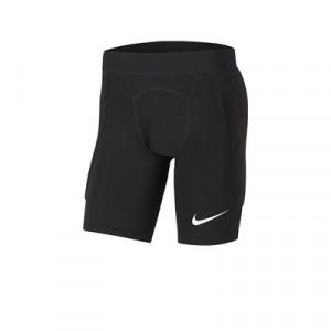 Mallas Nike Padded Goalkeeper niño - Mallas infantiles de portero cortas acolchadas Nike - negra - frontal