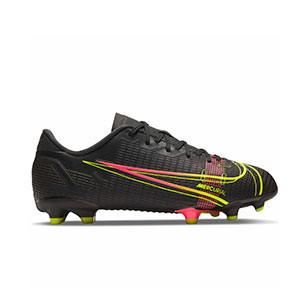 Nike Mercurial Jr Vapor 14 Academy FG/MG - Botas de fútbol infantiles Nike FG/MG para césped artificial - negras - pie derecho