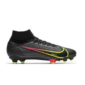 Nike Mercurial Superfly 8 Pro FG - Botas de fútbol con tobillera Nike FG para césped natural o artificial de última generación - negras - pie derecho