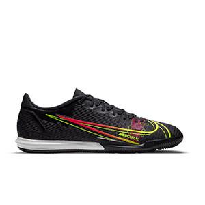 Nike Mercurial Vapor 14 Academy IC - Zapatillas de fútbol sala Nike suela lisa IC - negras - pie derecho