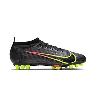 Nike Mercurial Vapor 14 Pro AG - Botas de fútbol Nike AG para césped artificial - negras - pie derecho